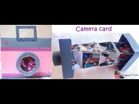 Camera card   Unique Instax card   Magic accordion camera card