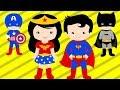 Learning Colors for Kids | Superhero Justice League - Wonder Woman, Batman, Superman | Color World