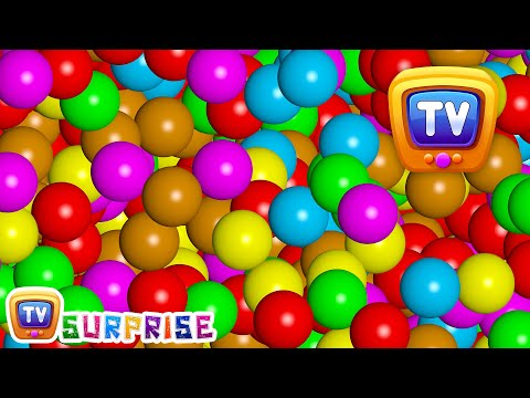 Thumbnail: Magical Surprise Eggs Ball Pit Show For Kids | Learn Colours & Shapes | ChuChu TV Surprise Fun