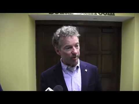 Rand Paul Media Questions at Iowa State University