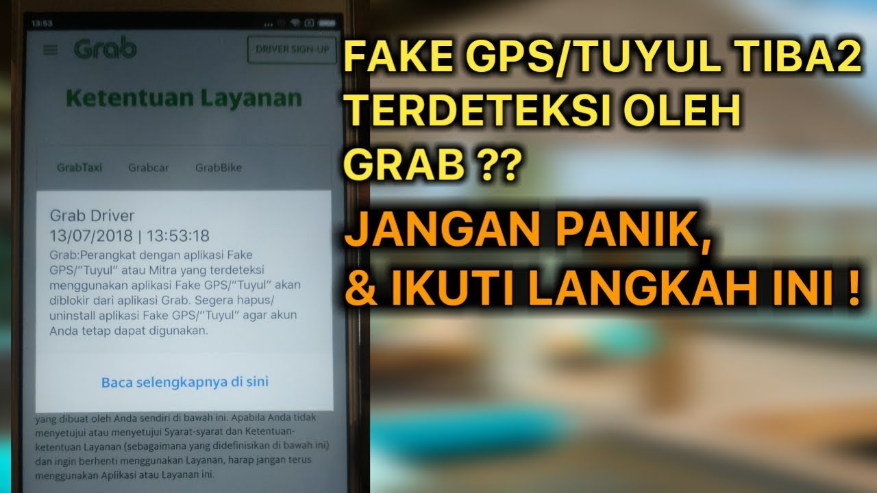 Mengatasi Fake Gps Tuyul Tiba Tiba Terdeteksi Grab Youtube