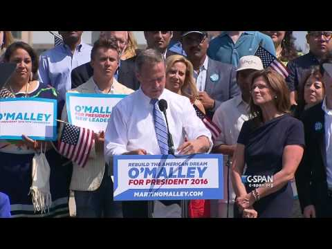 Martin O'Malley Presidential Announcement Full Speech (C-SPA