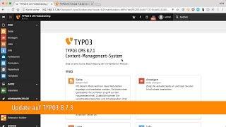 TYPO3 8 LTS Videotraining: Update auf TYPO3 8.7.3 durchführen