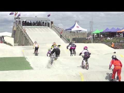 Toni James' Saturday Crash - 2013 New Zealand BMX National Champs
