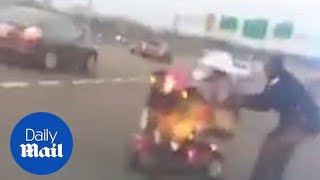 Elderly woman on mobility scooter drives on interstate - Daily Mail