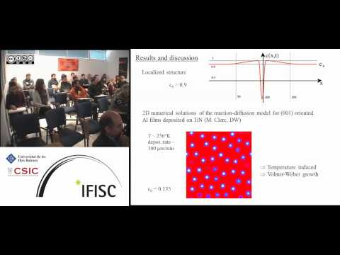 Self-organization in thin films: a continuous approach