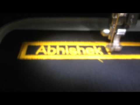 Embroidery Name Plate Engraving Machine