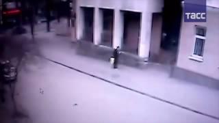 Взрыв в Ростове-на-Дону попал на камеру