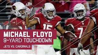 D.J. Swearinger Picks Off Ryan Fitzpatrick & Michael Floyd Snags a TD! | Jets vs. Cardinals | NFL