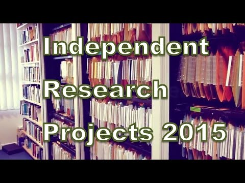 Independent Research Projects 2015: Final Year Students