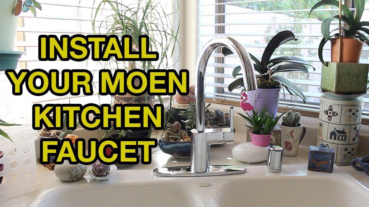 Moen Kitchen Faucet Installation Youtube