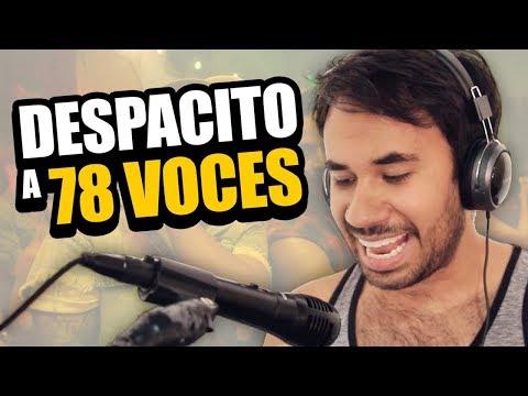Hombre canta DESPACITO a 78 voces - LA TÓMBOLA