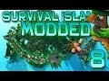 Minecraft: Modded Survival Island Let's Play w/Mitch! Ep. 8 - DIAMOND FLAIL!