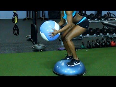 10 Awesome Bosu Ball Exercises: Total Body Balance Training