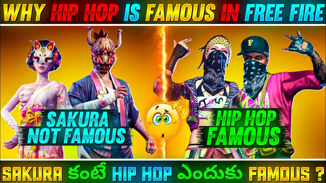 WHY HIP HOP IS FAMOUS MORE THAN SEASON 1 SAKURA ELITE PASS 😵🔥 || TOP MYSTERIOUS FACTS - FREE FIRE