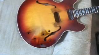 Katrina Survivor getting rubbed out. Gibson ES-335 from 1965