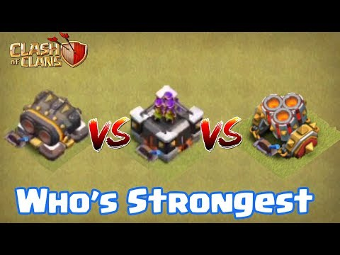 GEAR UP CANNON VS ARCHER TOWER VS MORTAR | WHO'S STRONGEST | CLASH OF CLANS |
