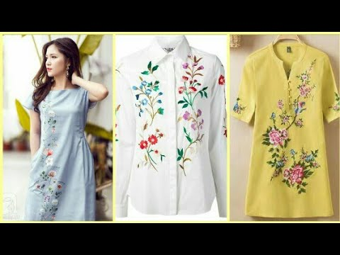 Beautiful embroidery shirt designs