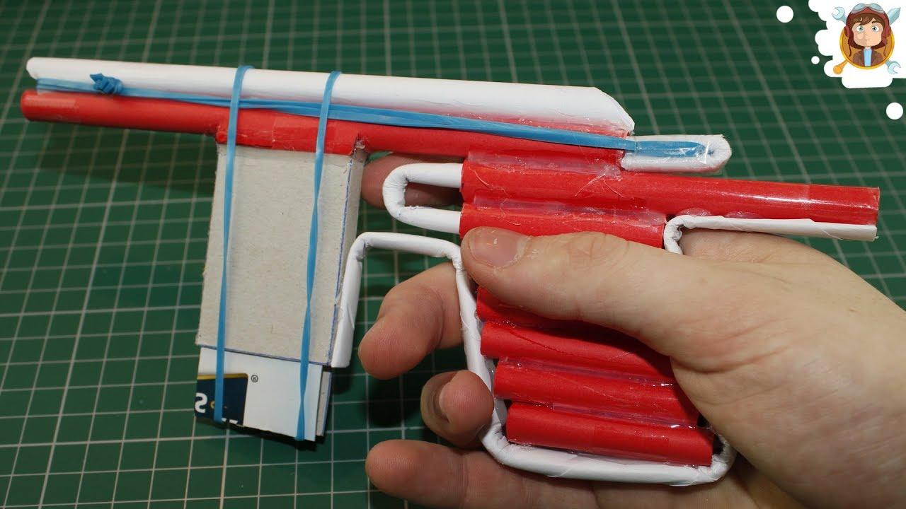 Como hacer pistola de papel que dispare armas caseras - Como hacer una cachimba casera facil ...
