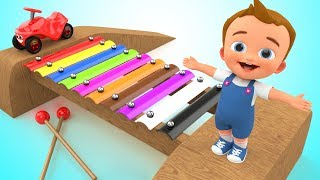 Kids Best Learning Video Toddler Preschool Learn Colors - Baby Xylophone Learn Colours Educational thumbnail