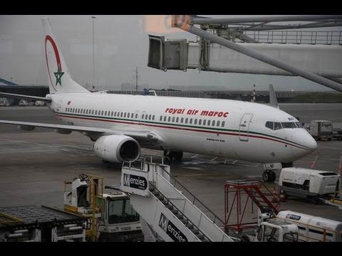 Royal air maroc at685 boeing 737 800 amsterdam to youtube for Interieur 737