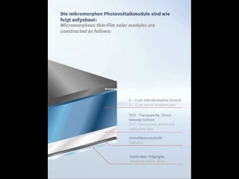 Bosch Thin Film Micromorphous Solar Panels