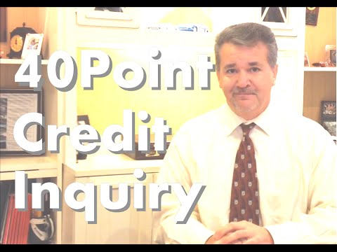 40 Point Credit Score Inquiry. How many points will a hard credit inquiry cost you?