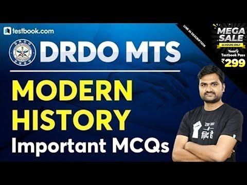 Important MCQs on Modern History of India | DRDO MTS 2020 GK Quiz | GS by Pankaj Sir