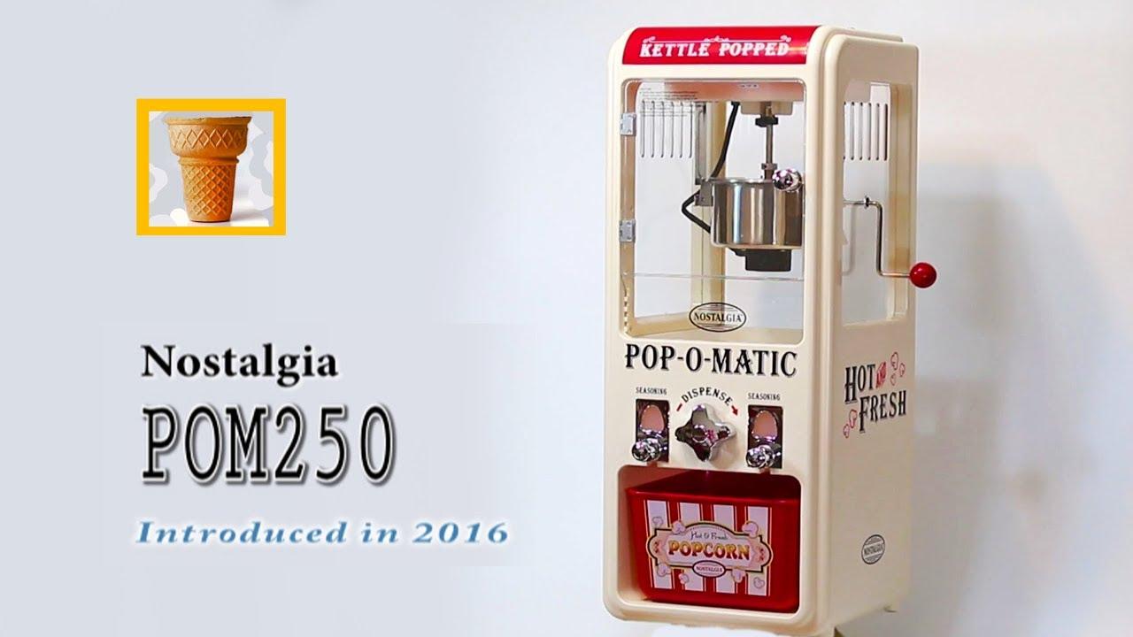 NOSTALGIA POPCORN MACHINE pom250 正宗美國電影院爆米花機 │Toy Cupid 非主流の奢 - YouTube