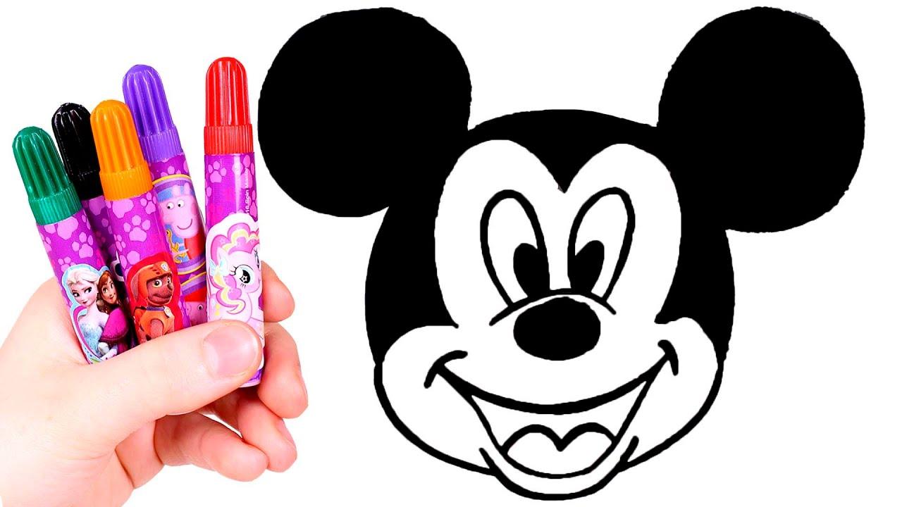 Dibuja Y Colorea A Mickey Mouse Dibujos Para Ninos Youtube