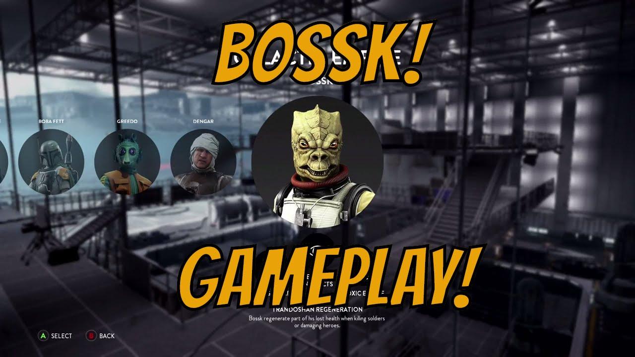 Star Wars Battlefront Death Star Dlc Bossk Gameplay