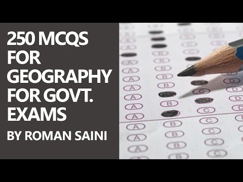 250 MCQs for Geography for Govt. Exams (UPSC and SSC) by Roman Saini [Part 1/3]