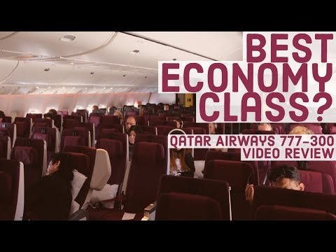 Qatar Airways Economy Class Review   777-300ER   Doha to Munich