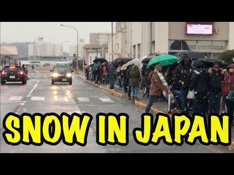 SNOWING IN JAPAN❄️ | JABBAWOCKEEZ VISIT YOKOSUKA NAVAL BASE  | FEBRUARY 2019
