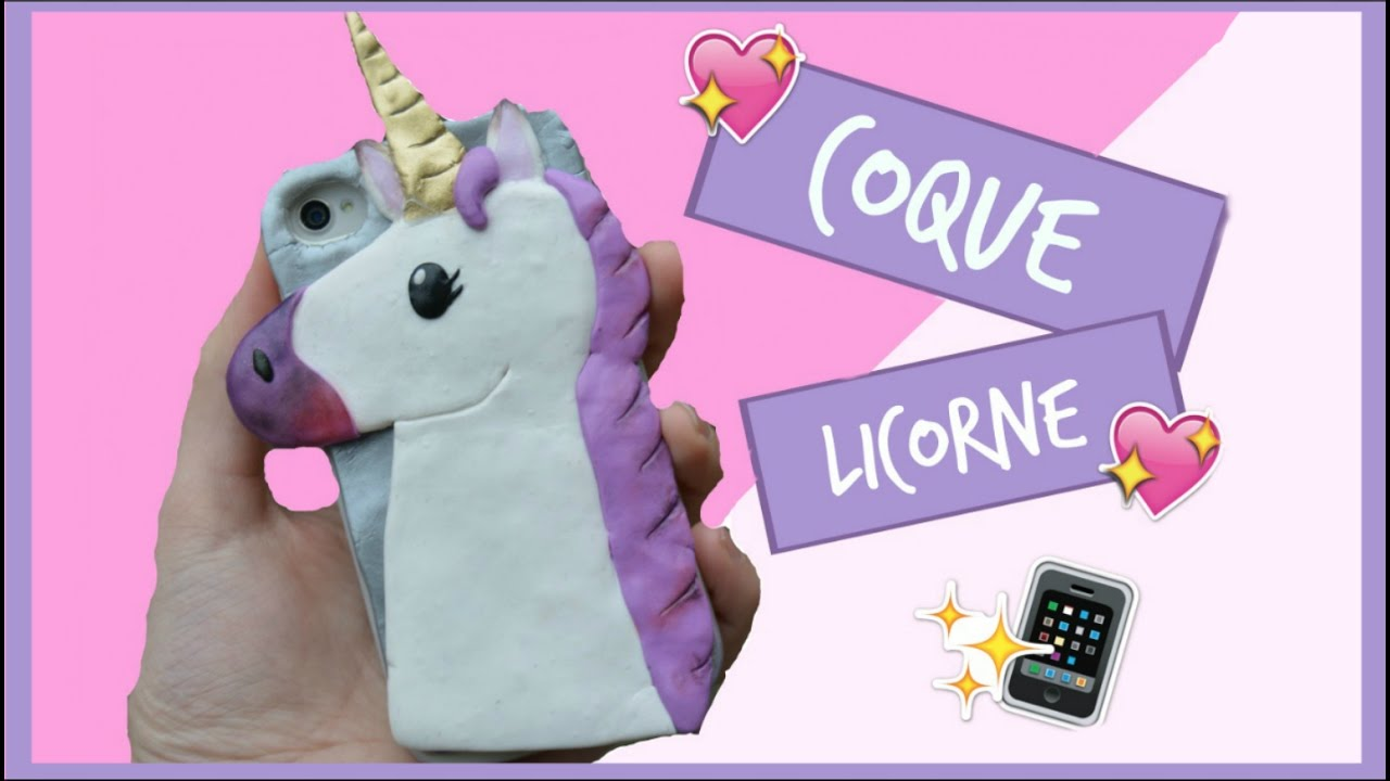 tuto fimo coque de t l phone licorne phone case unicorn polymer clay youtube. Black Bedroom Furniture Sets. Home Design Ideas