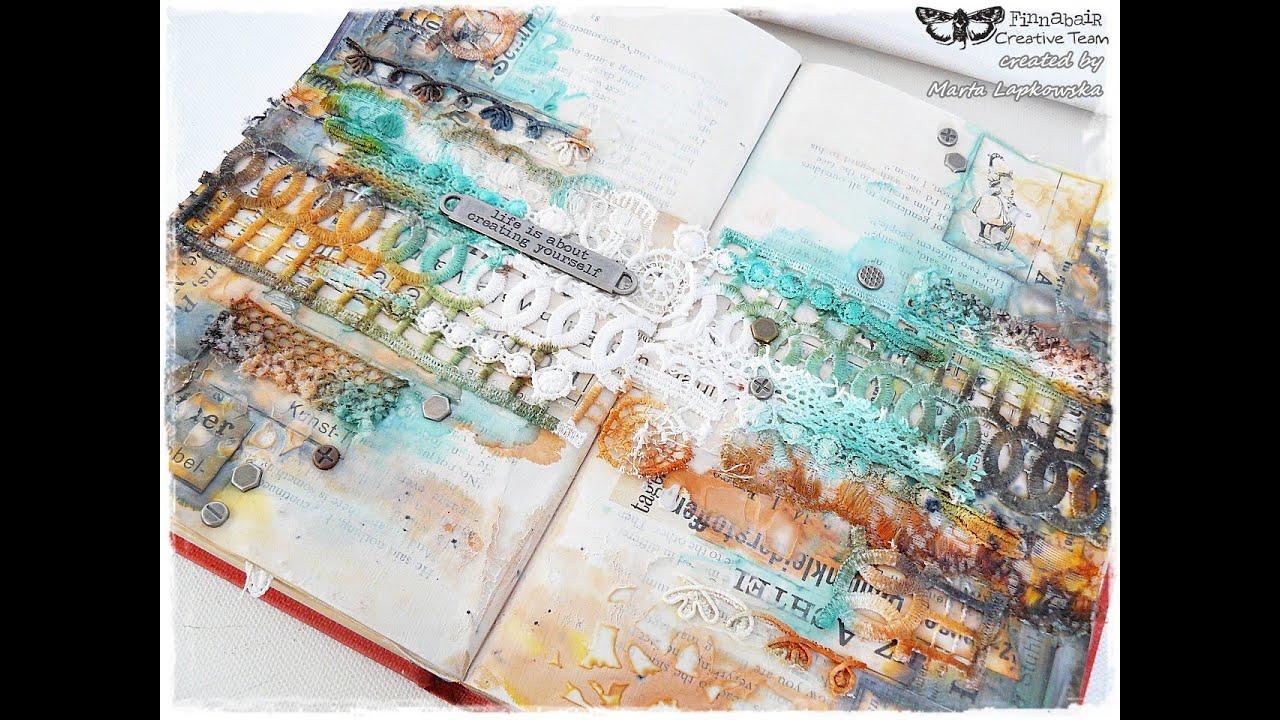 Art Journal Calendar Tutorial : Mixed media art journal for finnabair tutorial youtube