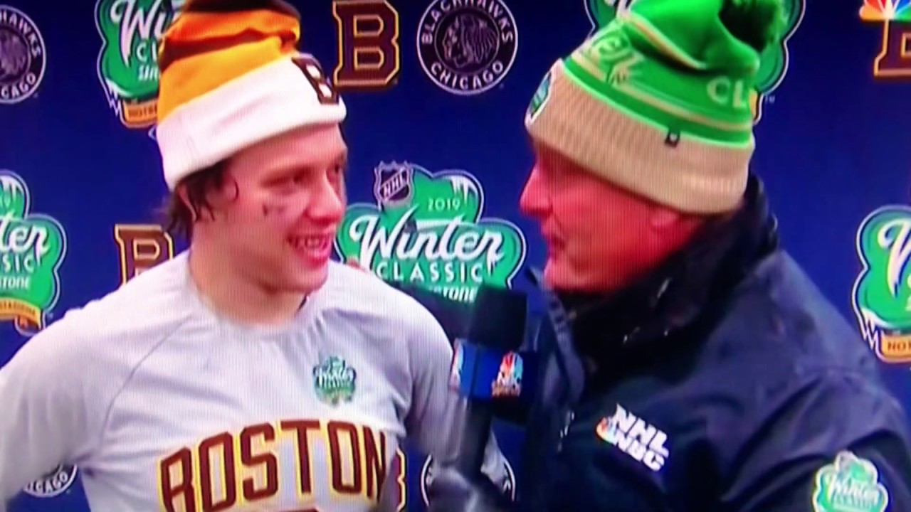 388d565d1 David Pastrnak Bruins Winter Classic Post Game Interview 1 1 19 ...