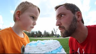 One of AndrewSchrock's most viewed videos: 3 Year Old Cakes Dad In The FACE!
