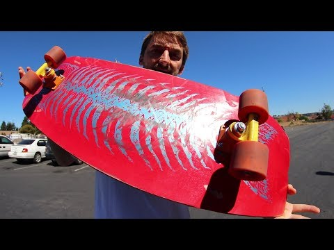 SUPER WIDE BOARD WITH PENNY TRUCKS!