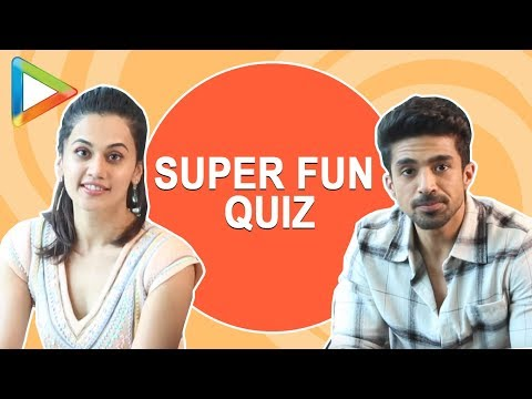 MINDBLOWING How Well Do You Know Each Other Quiz with Saqib Saleem and Taapsee Pannu