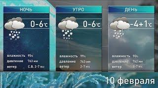 Прогноз погоды на 10 февраля