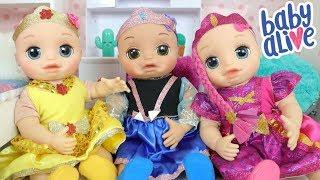 Baby Alive Gêmeas se Arrumando para a Festa do Concurso de Fantasia