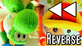 Poochy and Yoshi's Woolly World All Movies IN REVERSE (3DS)