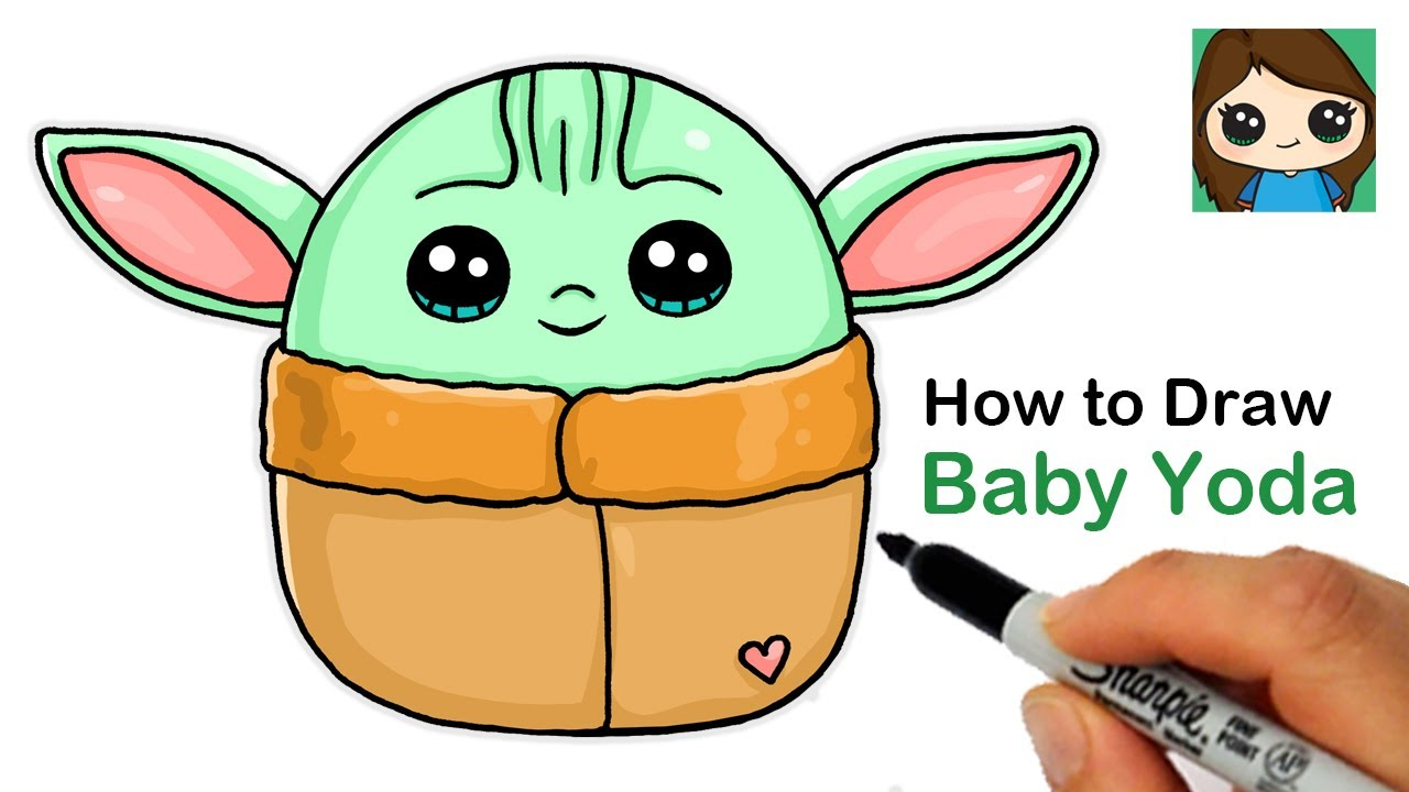 How To Draw Baby Yoda Easy Squishmallows Youtube