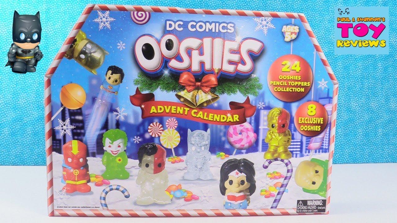 DC Comics OOSHIES Advent Calendar Batman Wonder Woman Squishy Toy Review   PSToyReviews - YouTube