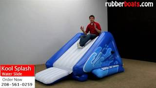 Intex Kool Splash Inflatable Water Slide Video Review By Rubber Boats