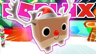 NEW *GIANT* RUDOLPH PET!! *RAREST PET* IN ROBLOX PET SIMULATOR!! [UPDATE 15] (Giveaway)