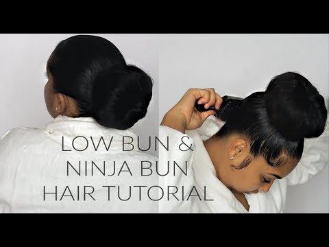 LOW BUN & NINJA BUN HAIR TUTORIAL | TheAnayal8ter thumbnail