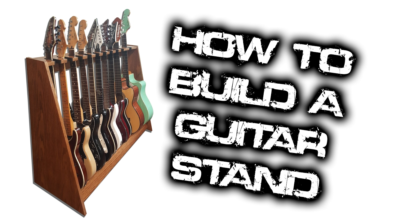 how to build a guitar stand that holds 10 guitars