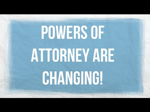Victoria's powers of attorney are changing
